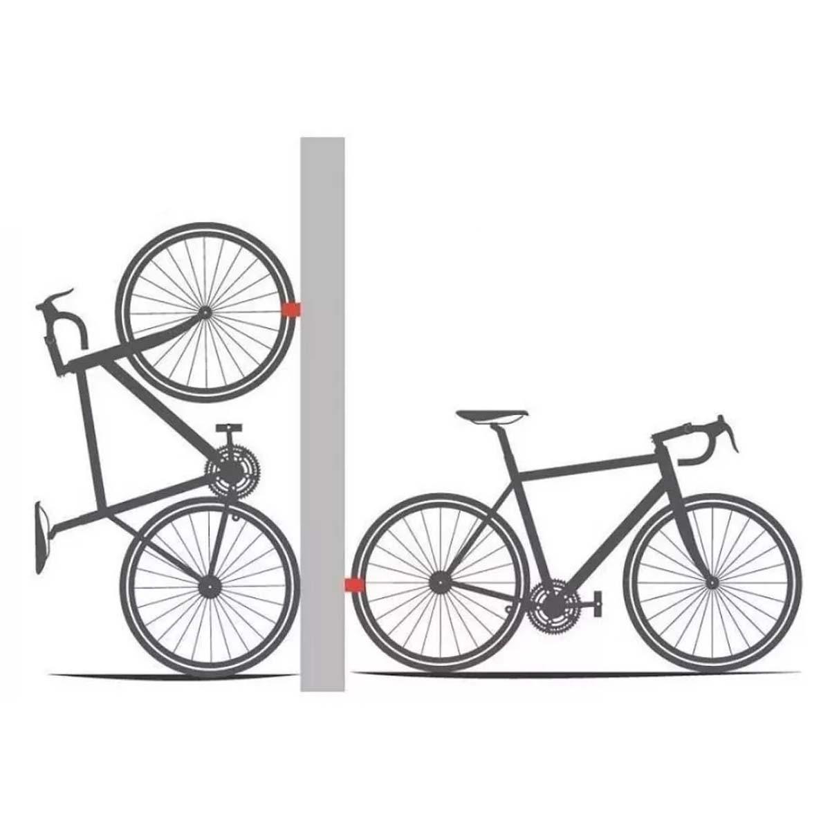 Suporte De Parede Vertical Ciclismo Maxford Bicicleta
