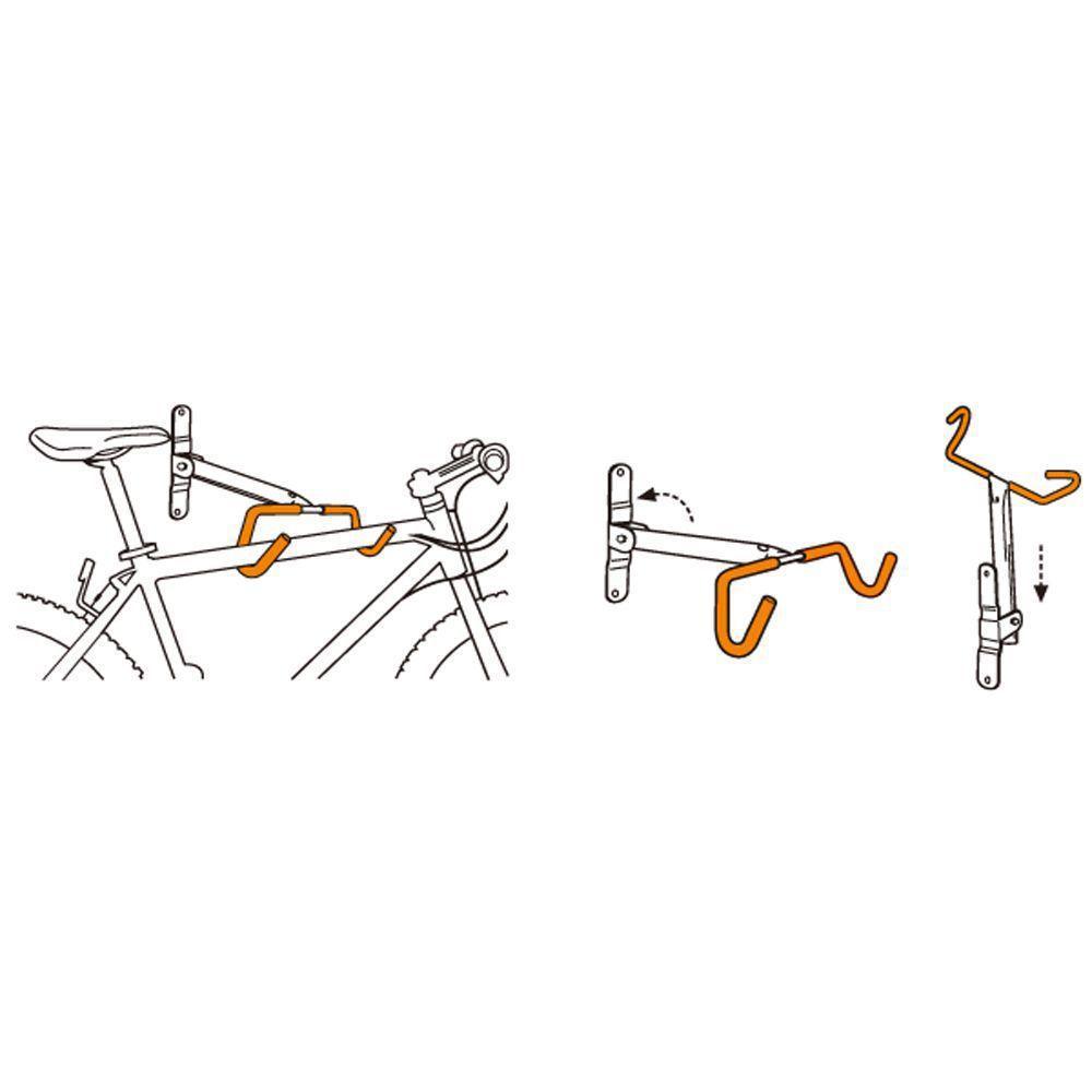 Suporte Parede Bike Horizontal Icetoolz