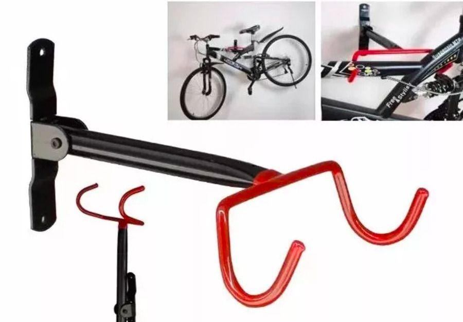 Suporte Parede para bicicleta Retrátil Emborrachado Elleven