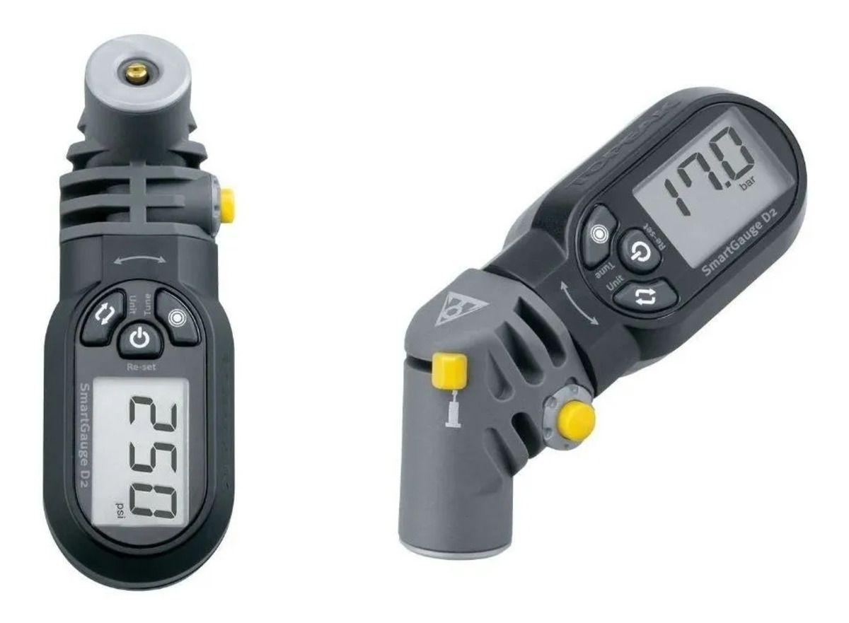 Medidor De Pressão Digital Pneu Bike Speed e Mtb Topeak Smartgauge D2 Digital