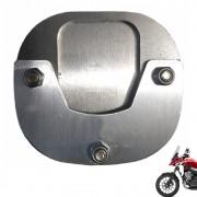 Ampliação Base Pezinho Lateral Big Foot CB 500 X Alumínio Escovado S329A
