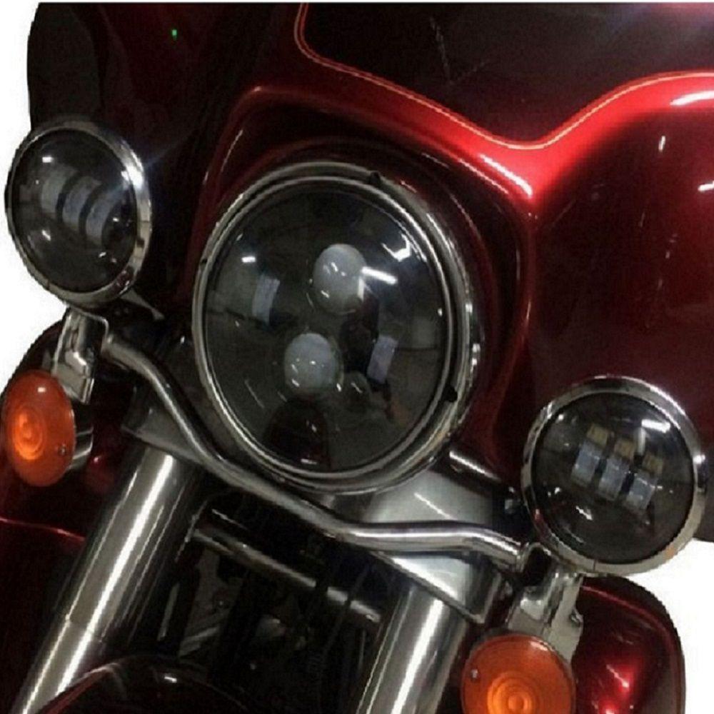 Acessório P Harley Fat Boy Electra Farol Led Milha Aux 4,5