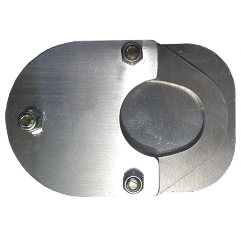 Ampliação Base Pezinho Lateral Big Foot Versys 1000 2015 / 2020 Alumínio Escovado