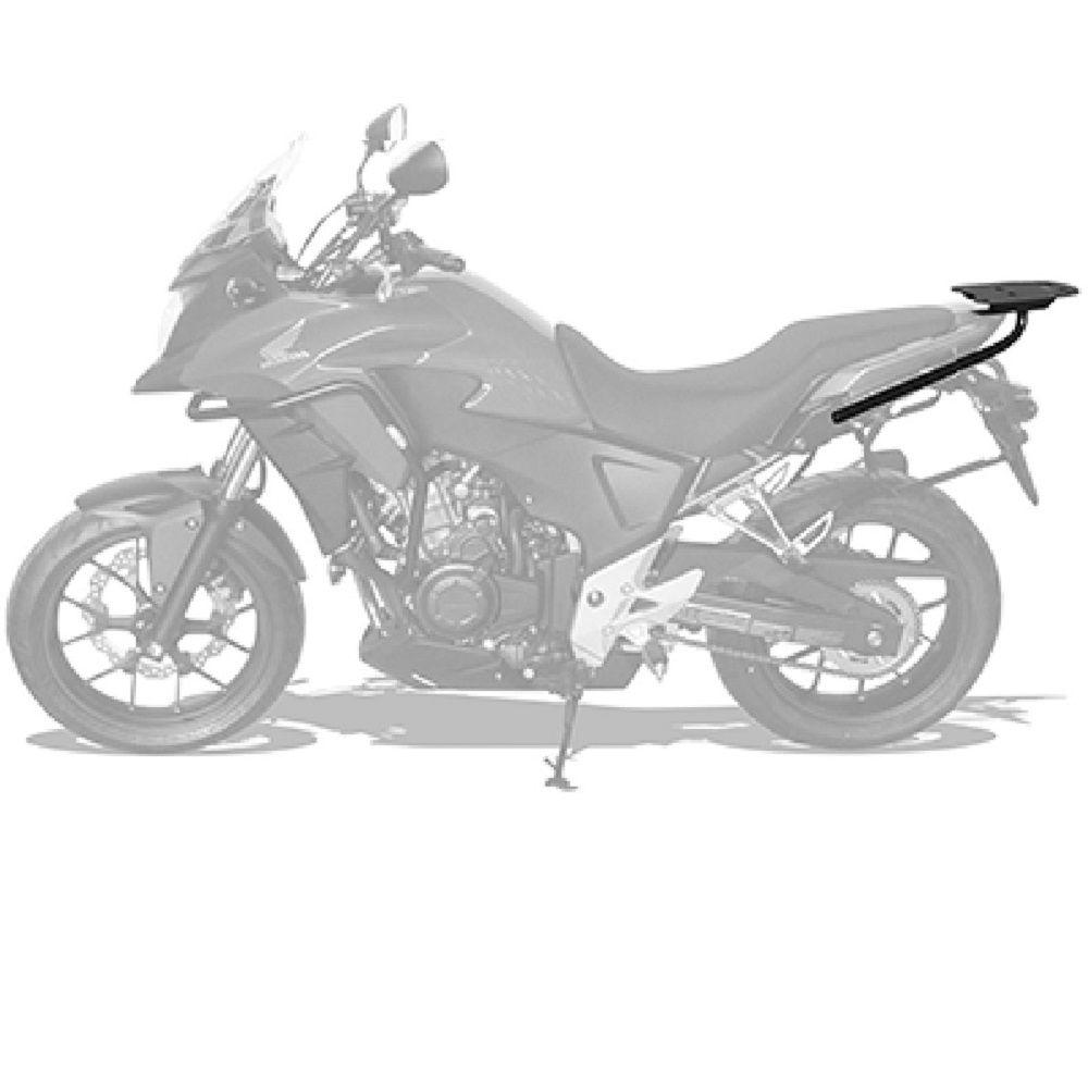 Bagageiro Cb 500x Para Baú Bauleto Preto Scam Cb500 2013 2020 SPTO100
