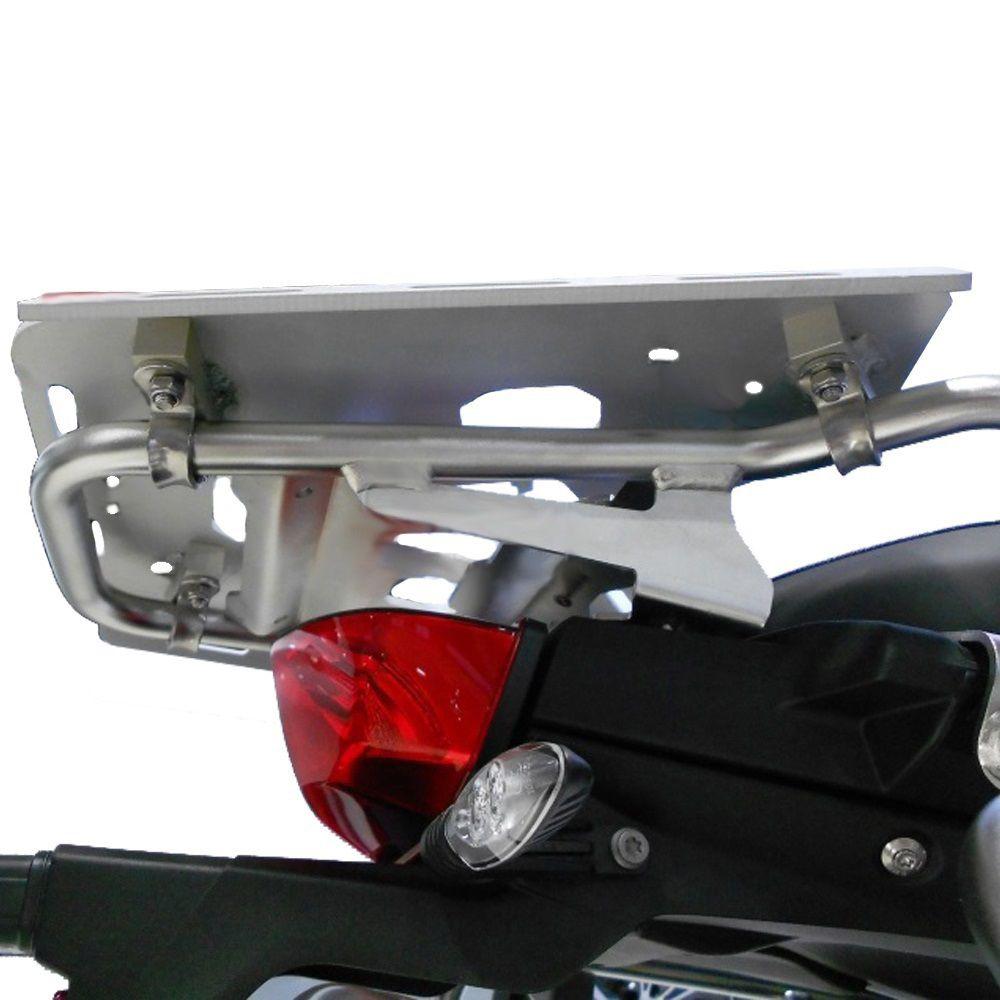 Bagageiro Chapa C/ Encaixe Monokey em Alumínio P/ Báu Traseiro Givi BMW F 850 1200 1250 GS Adventure Marca Skydder