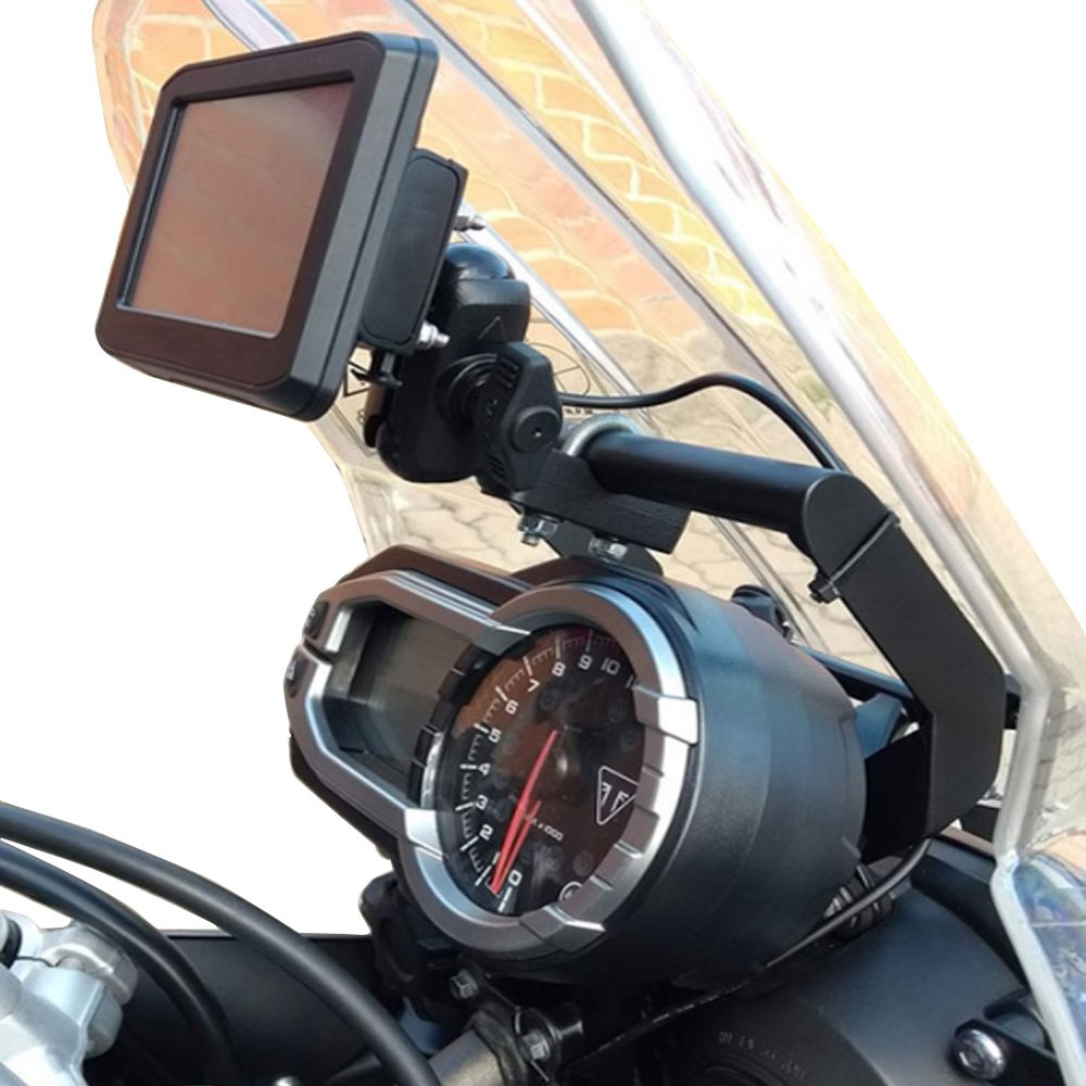 Base Tubular para Suporte de GPS para Tiger 800 XR XRX XC XCX XCA Até 2018 P/ Painel Analógico S415