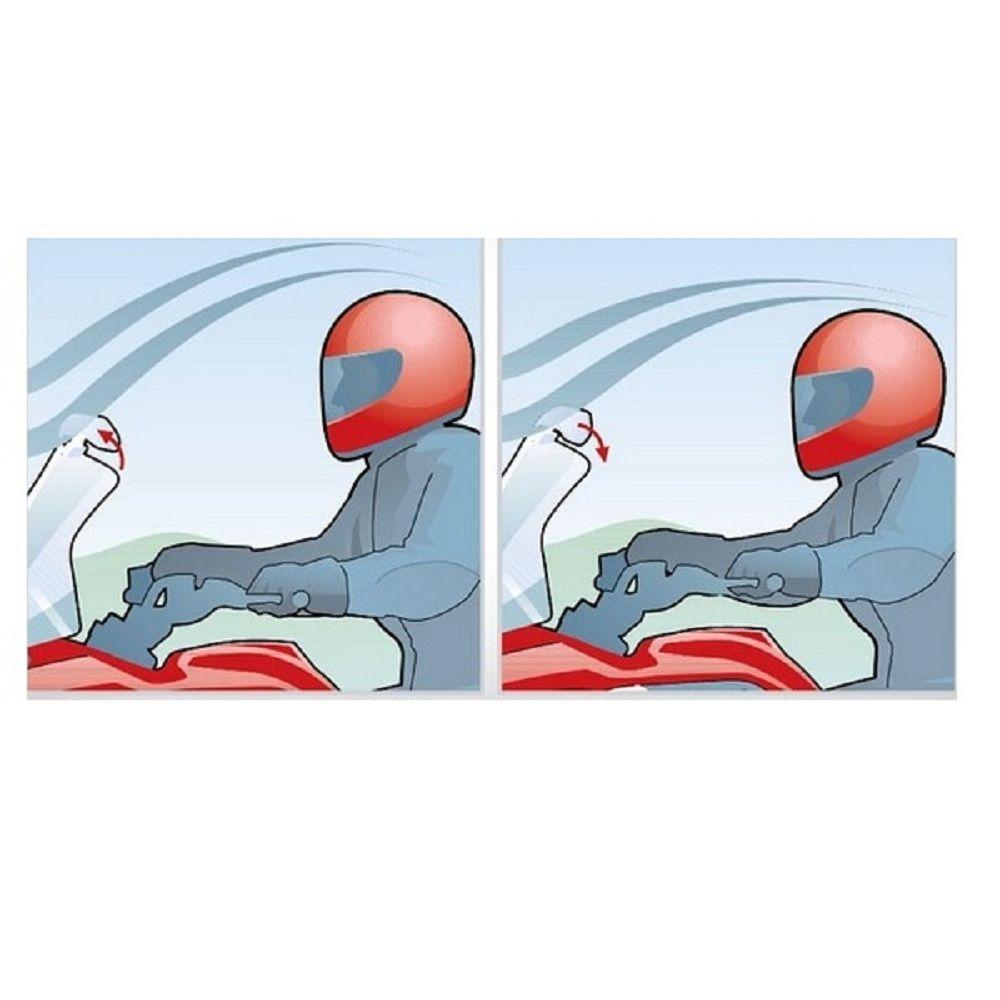 Defletor Vento Moto Nc Tenere Gs Tiger Cb V Strom e outras