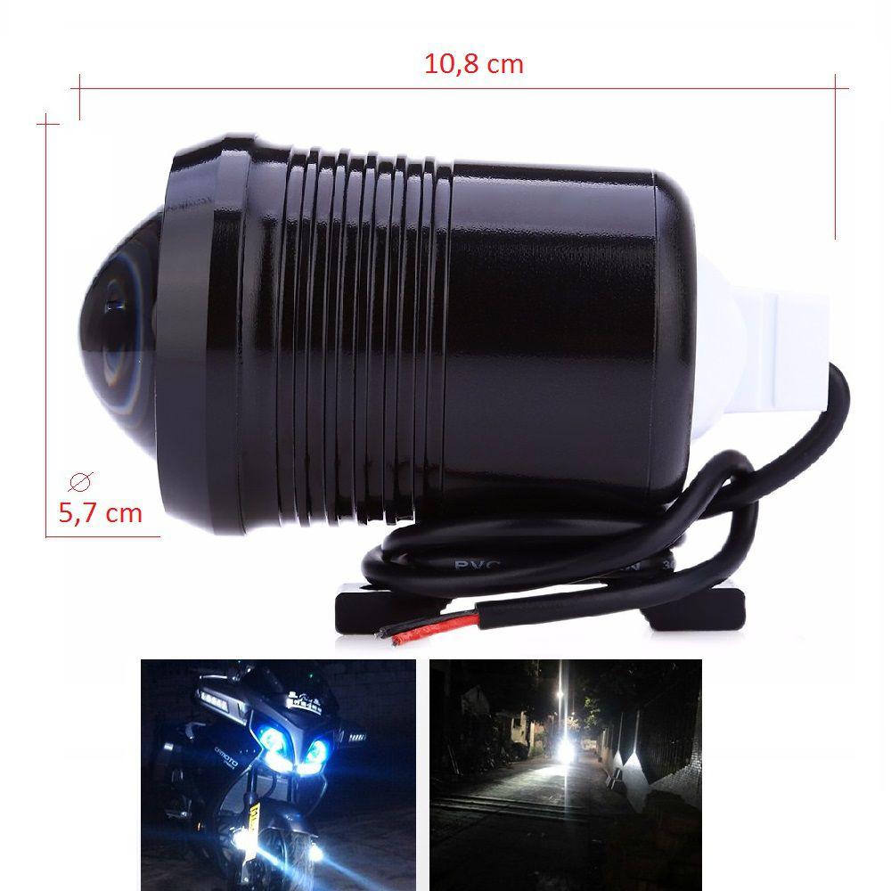 Par de Faróis de Milha Neblina em LED para Moto U1 com Botão
