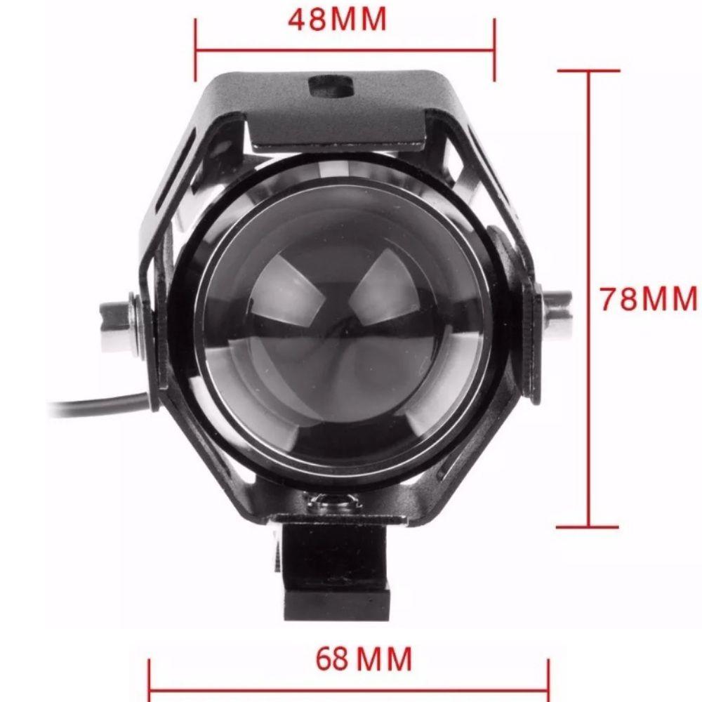 Par de Faróis de Milha Neblina em LED para Moto U5 com Botão