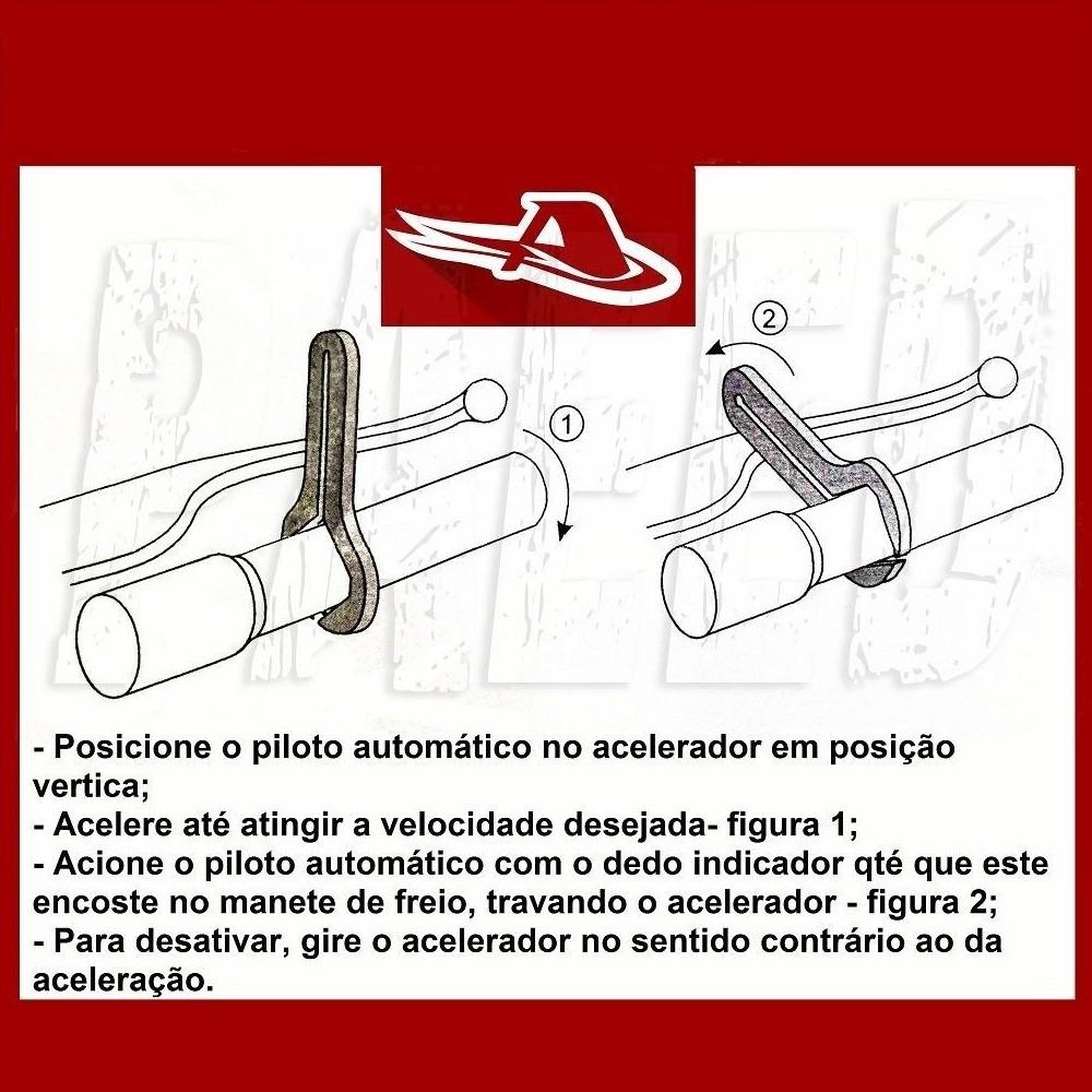 Piloto Automático Cruise Control Acelerador Plástico Para Manete Para Moto Universal Marca Anker