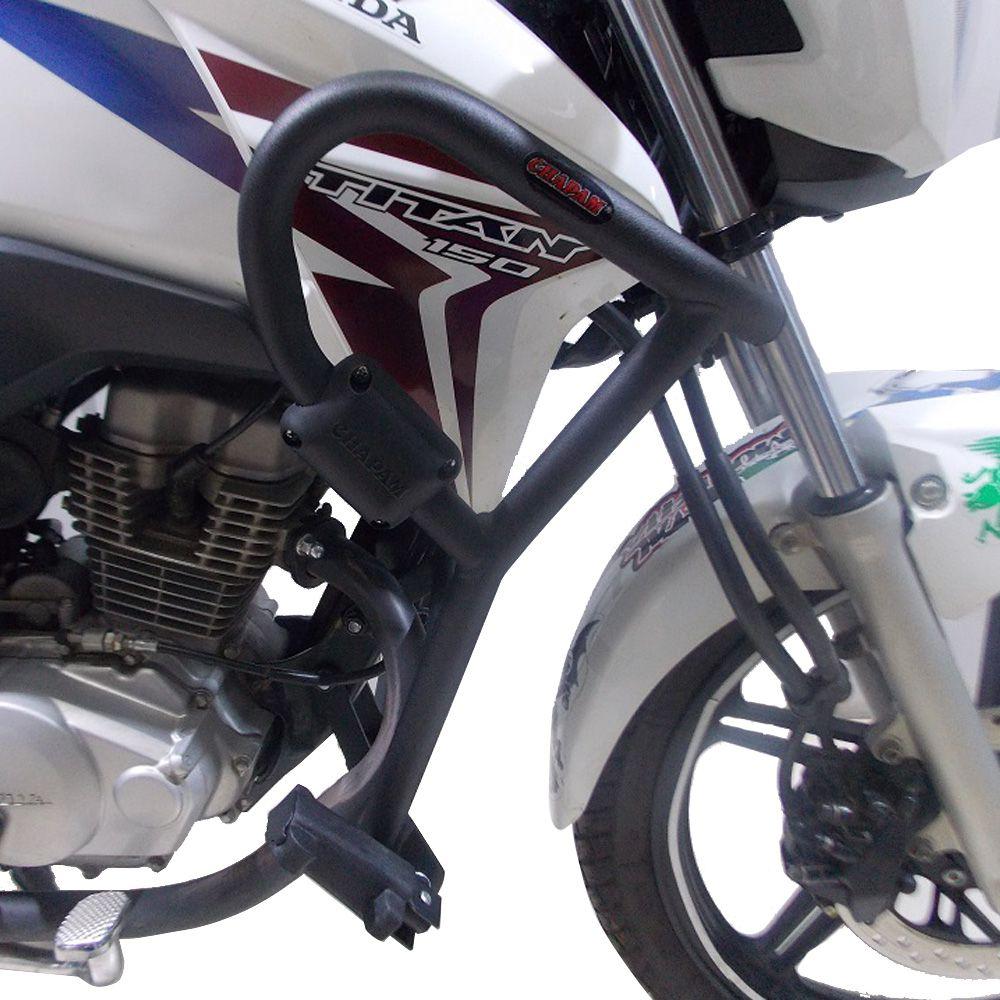 Protetor De Carenagem e Motor Com Pedaleiras  CG Titan 150 e 160 Chapam 11248