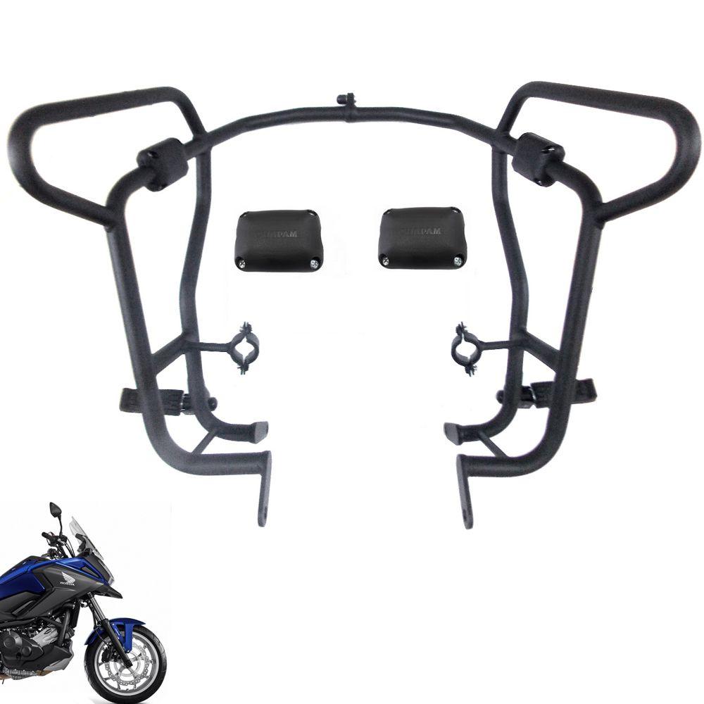 Protetor De Carenagem e Motor Com Pedaleiras Nc 700 e 750 X 2020 Chapam 11831