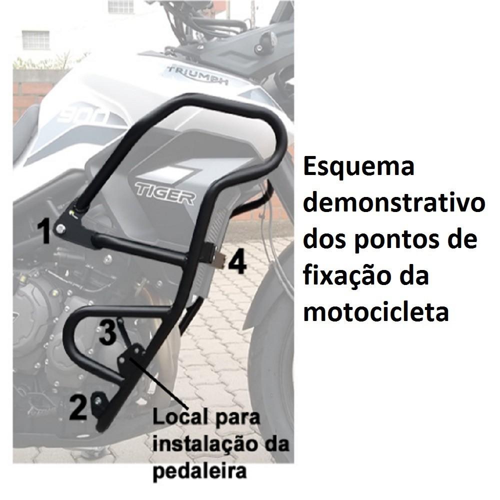 Protetor de Carenagem e Motor Com Pedaleiras Para Tiger 900 GT / GT PRO / Rally / Rally PRO Start Racing S433