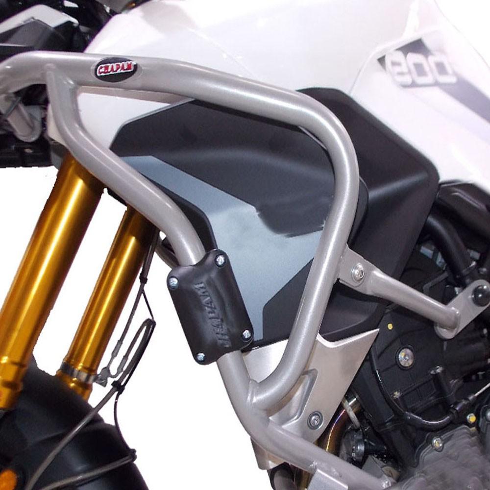 Protetor de Carenagem Prata com Pedaleiras p/ Tiger 900 GT / GT PRO / Rally / Rally PRO Chapam 12414