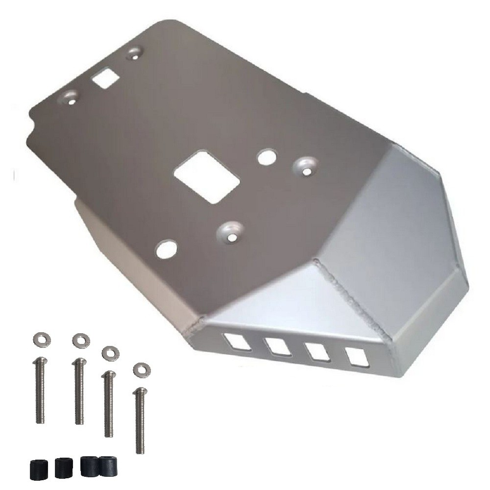 Protetor de Carter e Motor Peito de Metal Bmw P/ F 850 Gs Alumínio LC Prata