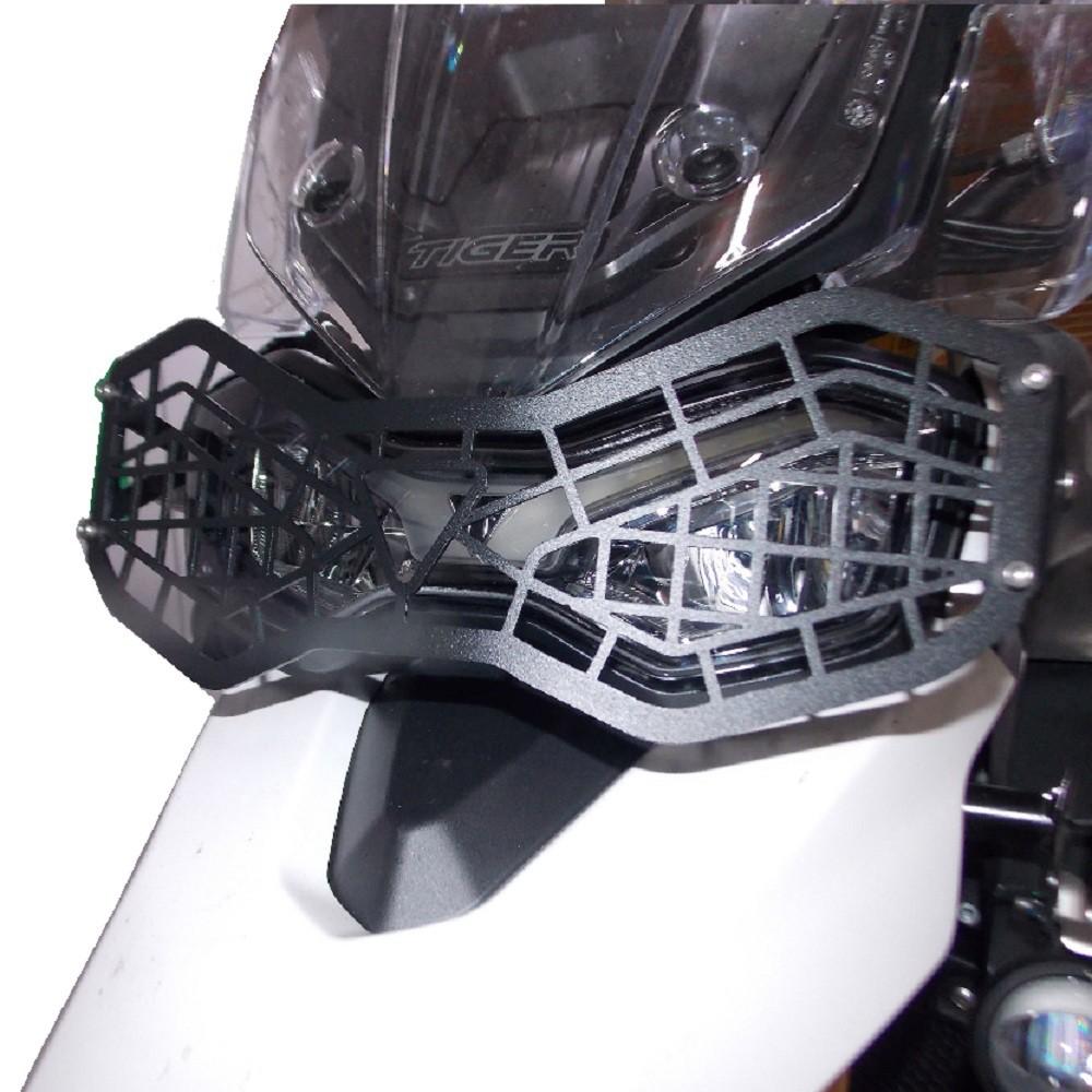 Protetor De Farol Grade Gradeado Metal P/ Tiger 900 GT / GT PRO / Rally / Rally PRO Chapam 12311