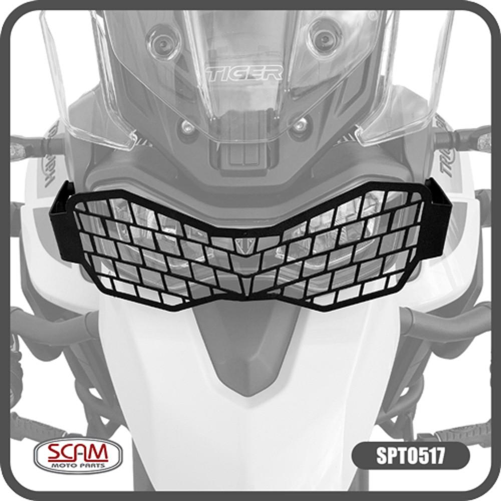 Protetor De Farol Metal P/ Tiger 900 GT / GT PRO / Rally / Rally PRO Scam SPTO517