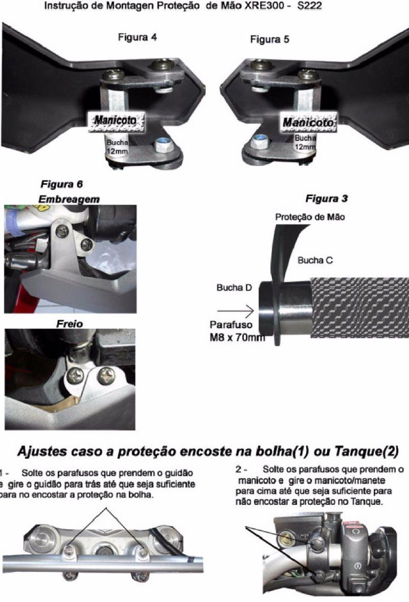 Protetor De Manoplas Mãos Xre 300 Todos Anos Start Racing s222
