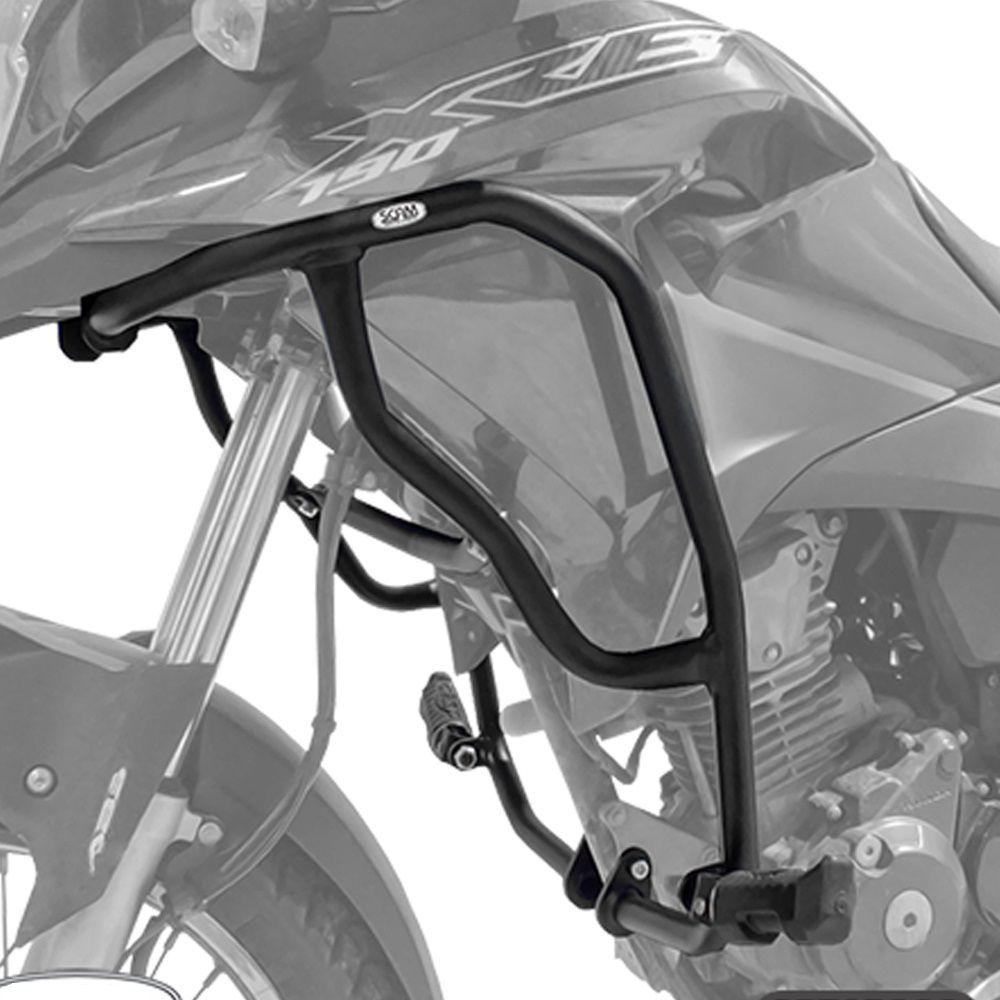 Protetor de Motor e Carenagem Com Pedaleiras XRE 190 Scam SPTOP398