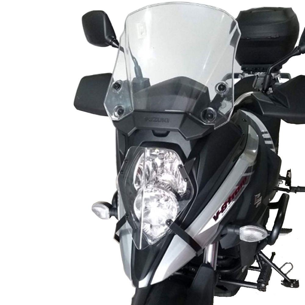 Protetor Farol Acrílico V Strom DL 650 ABS XT 2019+ Start Racing S369