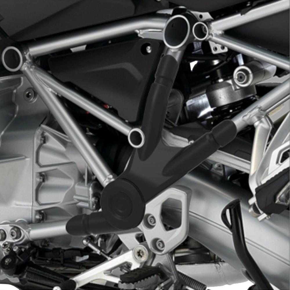 Protetor Plástico Para Quadro Chassi P/ BMW R 1200 1250 GS 2013 Em Diante Anker Preto