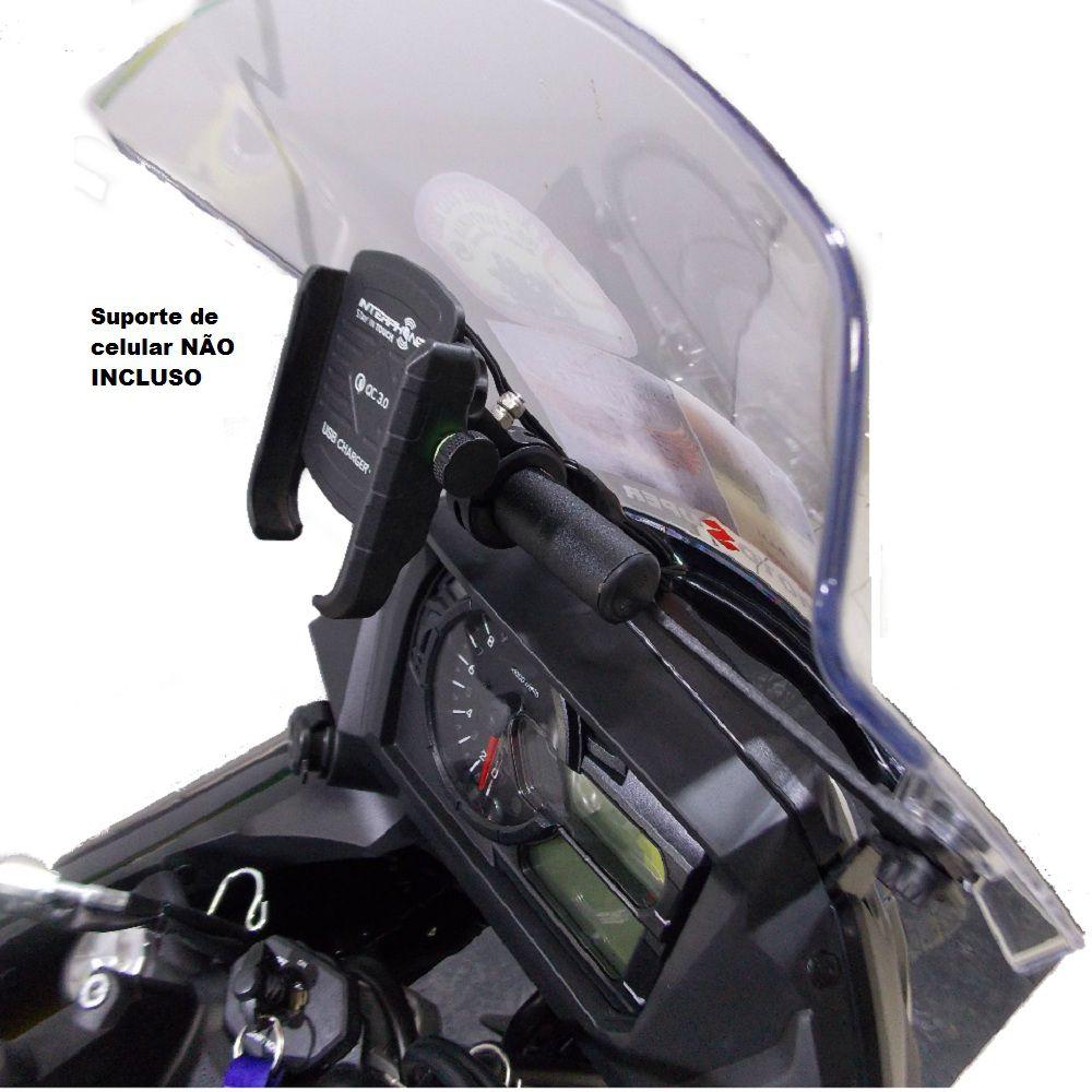 Suporte Base para GPS Celular V-strom 650 DL 650 2019 Chapam 11578