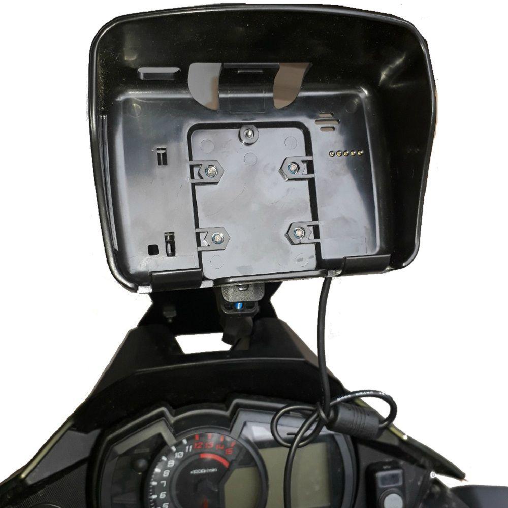Suporte de GPS e Alongador de Bolha Versys X 300 Chapam 11342