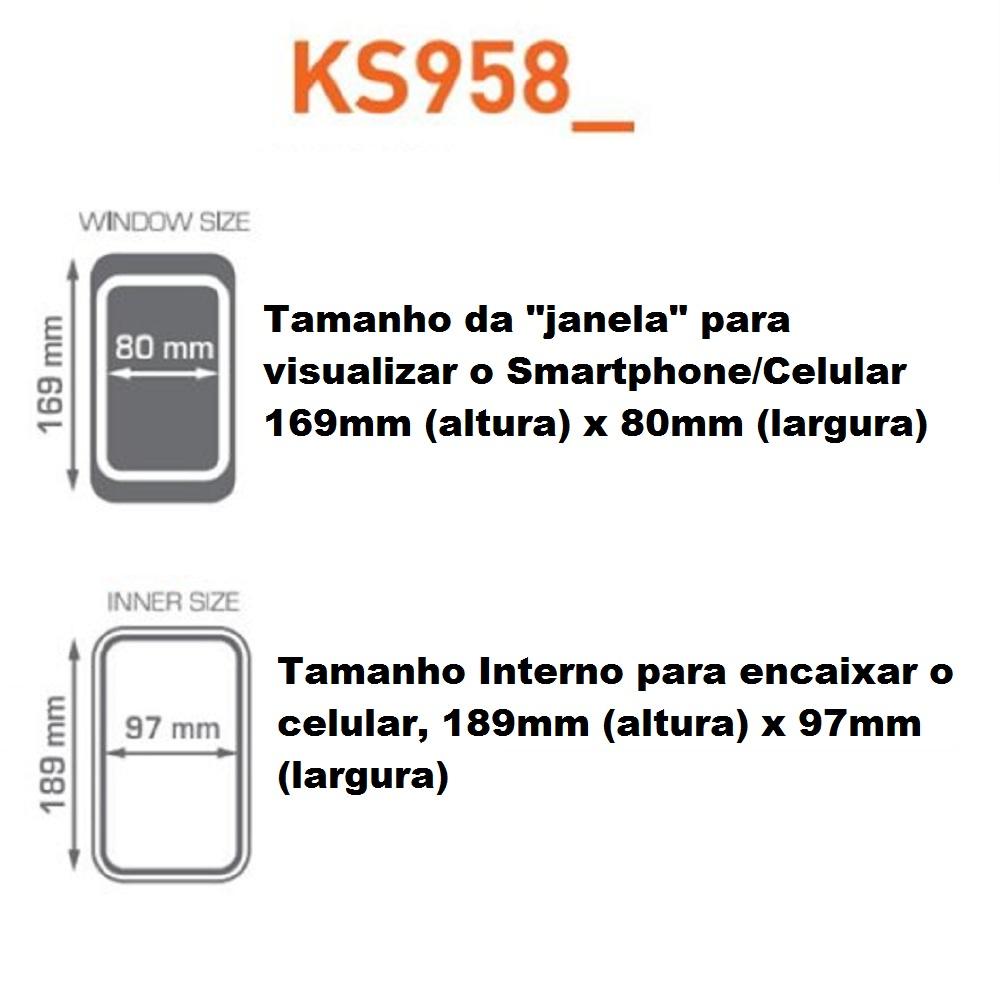 Suporte de Guidão de Moto para Celular Smartphone GPS 7/8 Polegadas Kappa By Givi KS958B