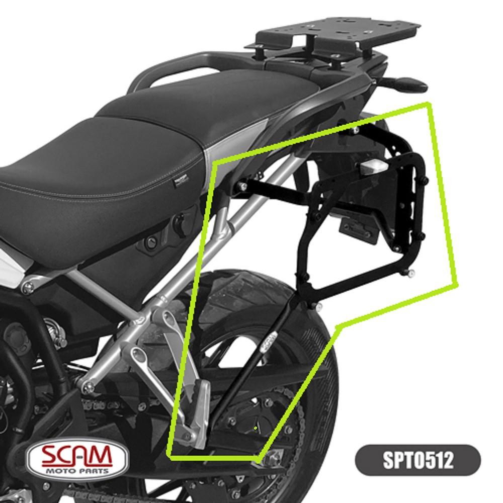 Suporte Fixação De Malas Laterais Para Baús Monokey P/ Tiger 900 GT / Rally / 2020+ Scam SPTO512