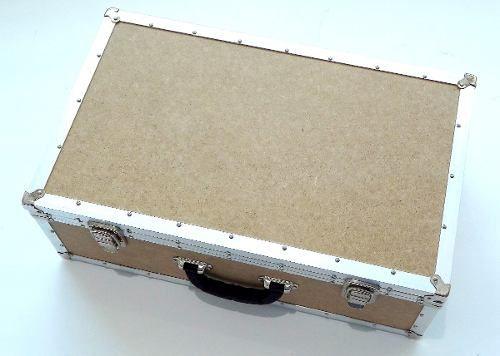 Mala Grande Para Ferramentas Em Mdf - 45x30x18cm