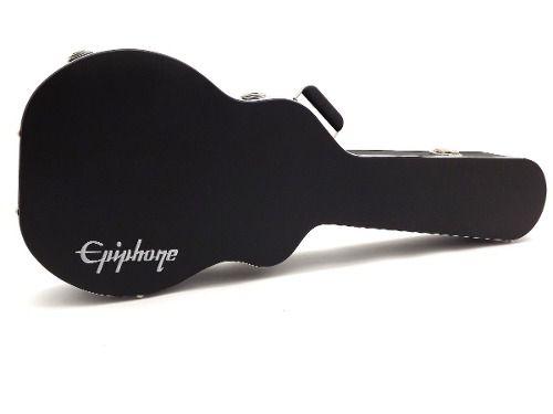 Estojo Case Para Guitarra Semi Acústica Logo Epiphone Luxo