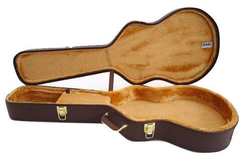 Estojo Case Para Guitarra Semi Acustica Milenium Marrom