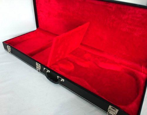 Case Para Guitarra Com Molde Strato Pelúcia Vermelha