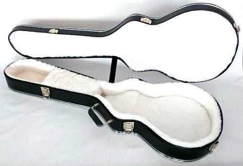 Case Guitarra Les Paul Luxo Bordado Gibson Pelúcia Branca