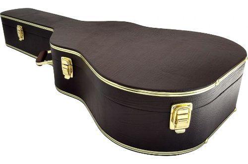 Case Para Violão Folk Logo Takamine Dourado Marrom