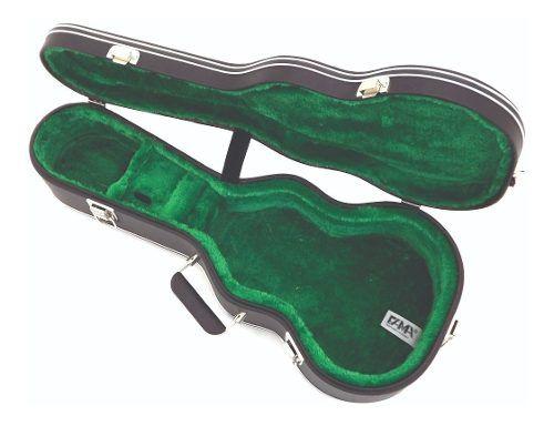 Estojo Case Para Cavaco Luxo Pelúcia Verde Com 3 Fechos