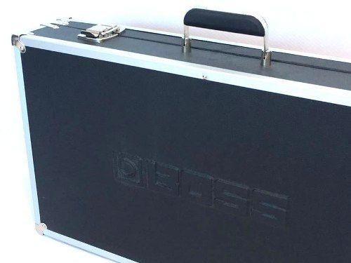 Case Para Pedais E Pedaleira, Logo Boss Luxo Alumínio Fama