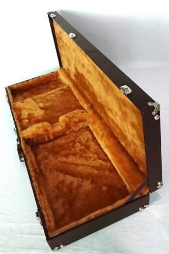 Case Guitarra Universal Standard Marrom Pelúcia Caramelo