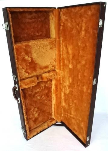 Estojo Case para Guitarra Marrom Pelúcia Caramelo