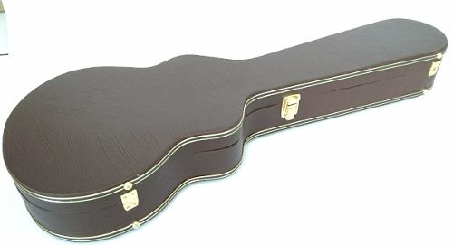 Estojo Case Guitarra Les Paul Extra Luxo Pelúcia Marrom
