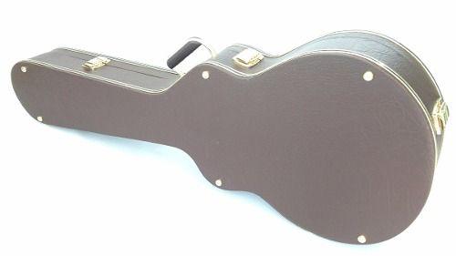 Estojo Case Guitarra Les Paul Extra Luxo Pelúcia Caramelo