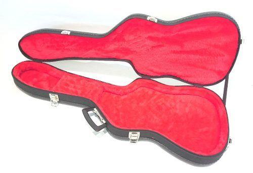 Case Para Guitarra Strato Pelúcia Vermelha Super Luxo
