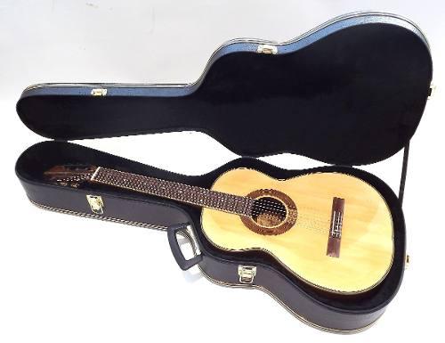 Case Para Violão Folk Luxo Ferragens Douradas