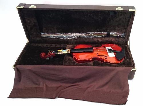 Estojo Violino Retangular 4/4 Extra Luxo Com Fundo Falso