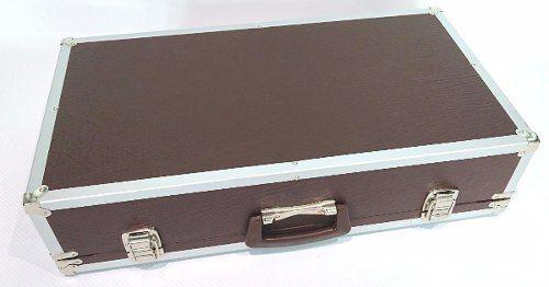 Case Pedais Pedaleira Boss Line6 Gt10 Zoom Marrom Aluminio