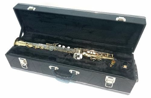 Estojo Case Para Sax Soprano Luxo Com Fundo Falso