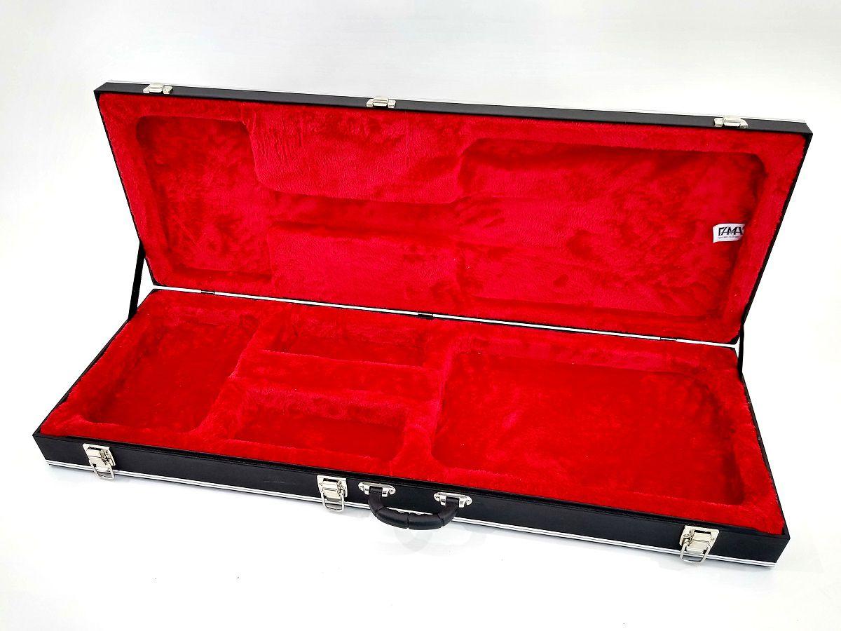 Case Guitarra Retangular Universal Logo Ibanez Luxo Pelúcia Vermelha