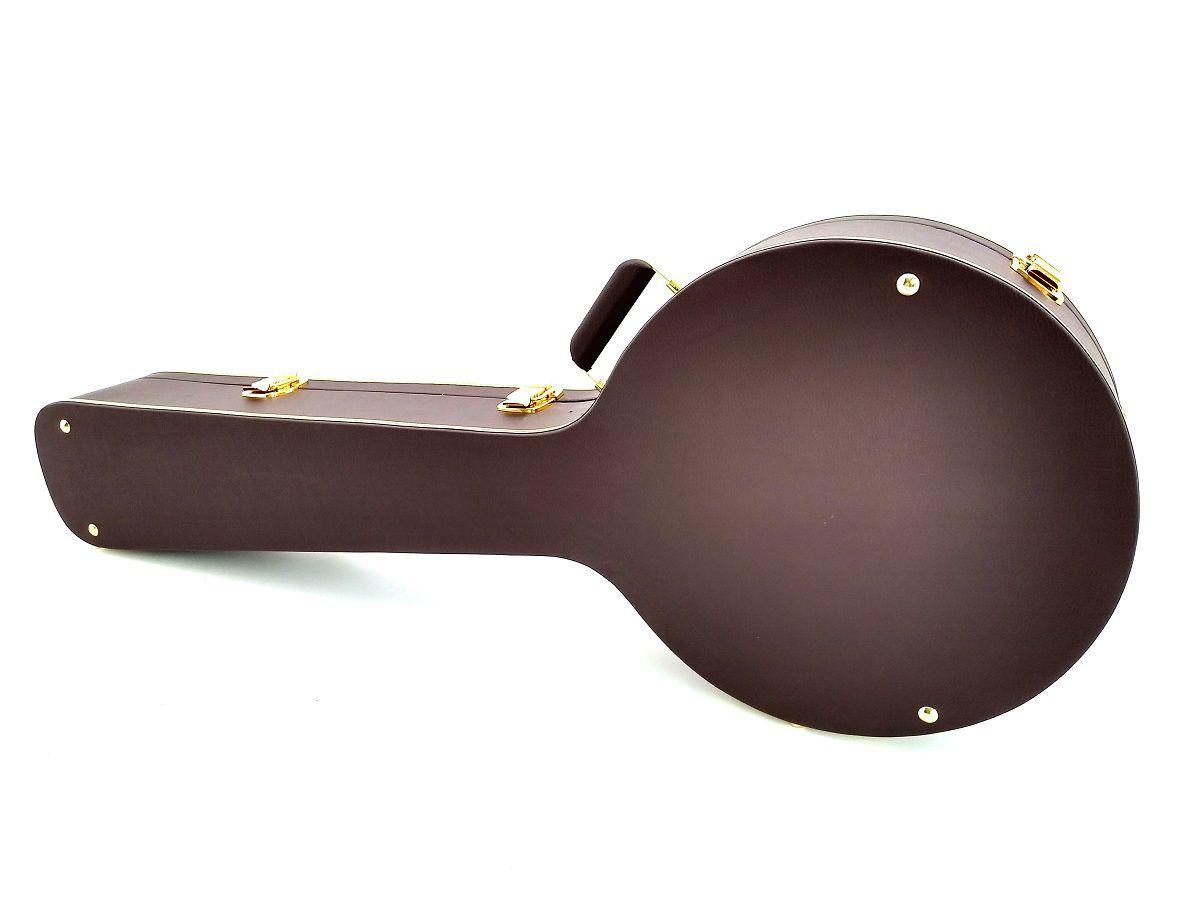 Case Térmico Para Banjo Country Americano  Luxo Marrom Dourado
