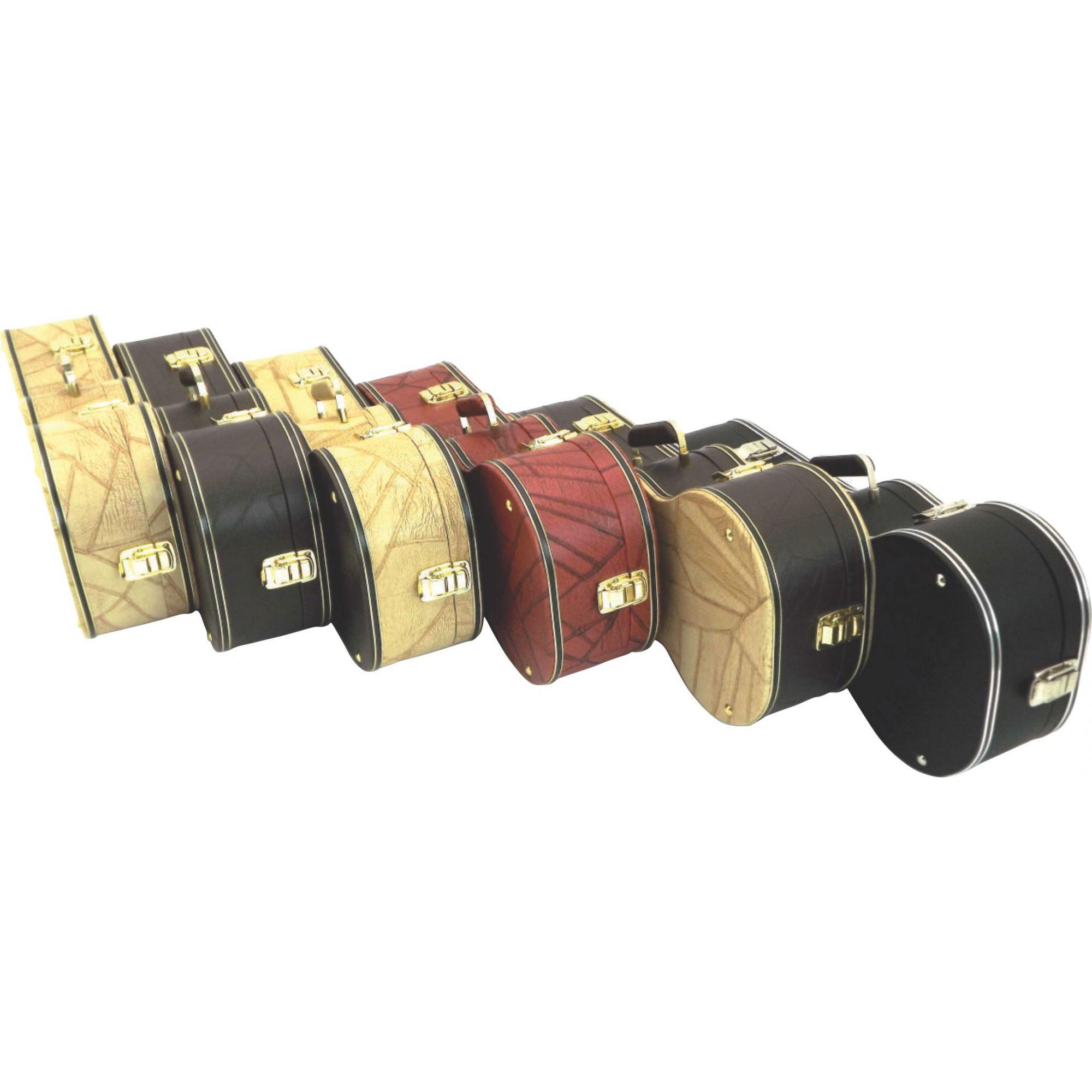 Case Para Cavaquinho Extra Luxo Com 3 Fechos Várias Cores