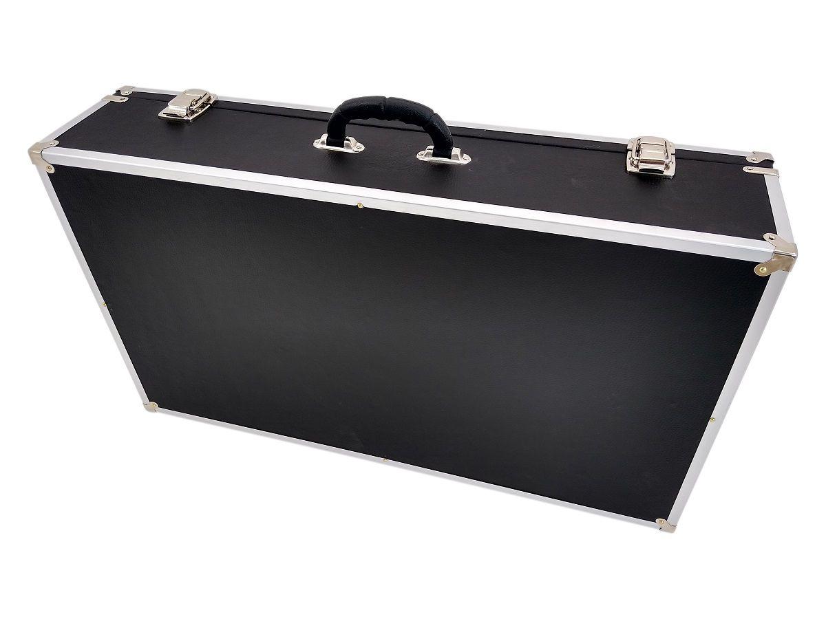 Case Para Pedais 70x40x15cm - Couro Sintético e Alumínio